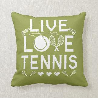 LIVE - LOVE - TENNIS CUSHION