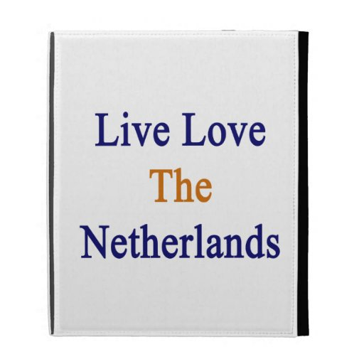 Live Love The Netherlands iPad Case