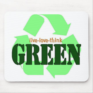 Live-Love-Think GREEN Mouse Mat