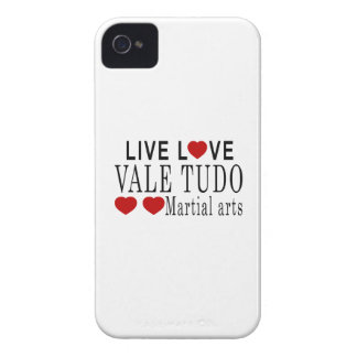 LIVE LOVE VALE TUDO MARTIAL ARTS iPhone 4 Case-Mate CASE
