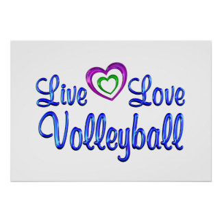 Live Love Volleyball Poster