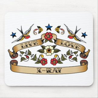 Live Love X-Ray Mouse Pad