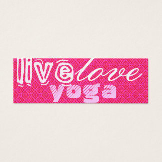 Live. Love. Yoga Mini Business Card