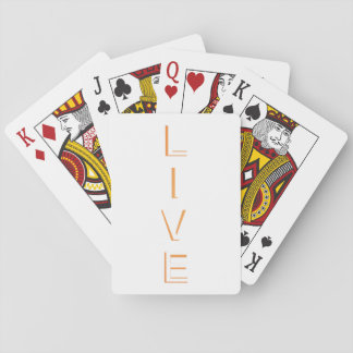Live Modern Trendy Color Playing Cards