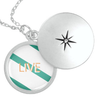 Live Modern Trendy Color Sterling Silver Necklace