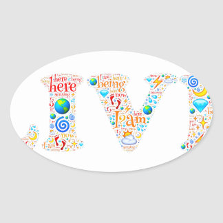live motivational oval sticker