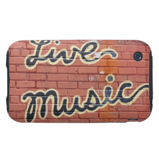 Live music written on a wall iPhone 3 tough case