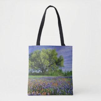 Live Oak & Texas Paintbrush, and Texas Tote Bag