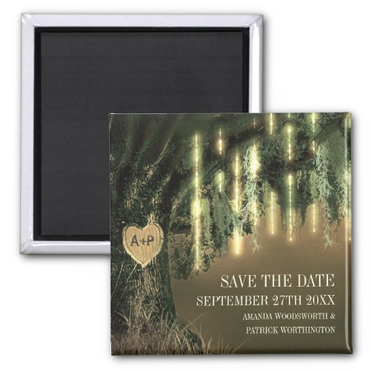 Live Oak Tree Spanish Moss Save the Date