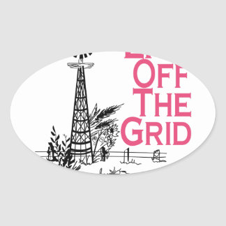 Live Off the Grid Oval Sticker