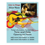 Live on Stage Acoustic Guitarist Flyer