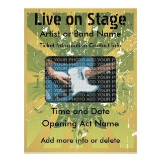 Live on Stage Grunge Music Flyer