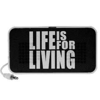 Live Positive Mantra Quote : Life is for Living Notebook Speaker