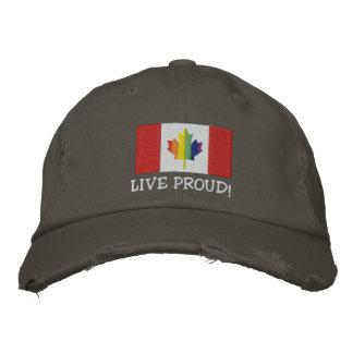Live Proud! Canadian Flag Baseball Cap