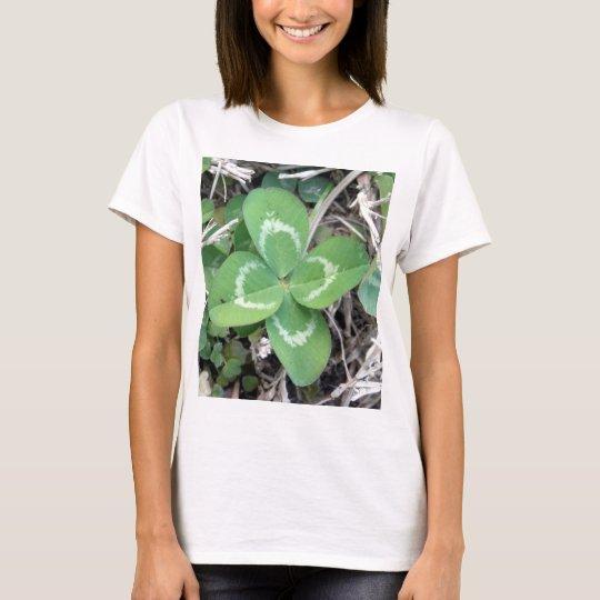 Live Real 4 Leaf Clover Photo T-Shirt