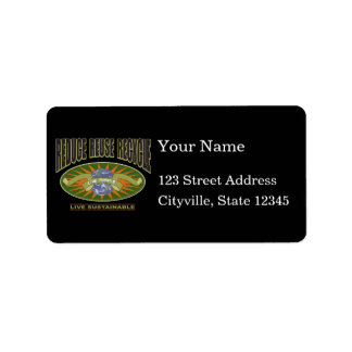 Live Simple Live Sustainable Address Label
