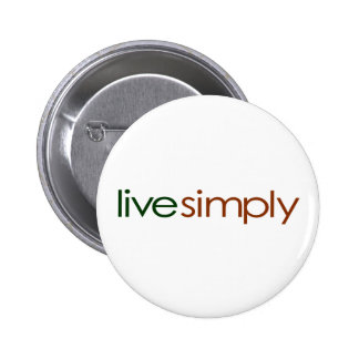 Live Simply Pinback Buttons