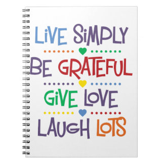 Live Simply Notebook
