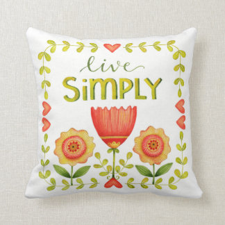 Live Simply • Pillow • Word Series
