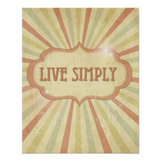"""Live Simply"" Wall Decor Poster"
