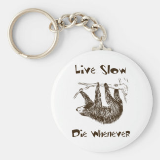 Live Slow. Die Whenever Key Ring