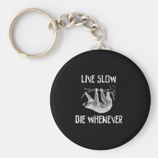 Live Slow Key Ring