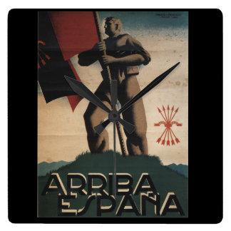 Live Spain (1939)_Propaganda Poster Wall Clocks