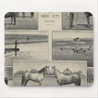 Live Stock in Kansas Mouse Pad
