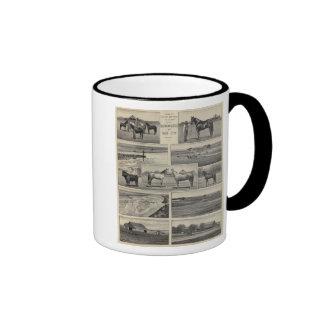 Live Stock in Kansas Ringer Mug