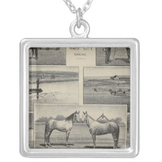 Live Stock in Kansas Silver Plated Necklace