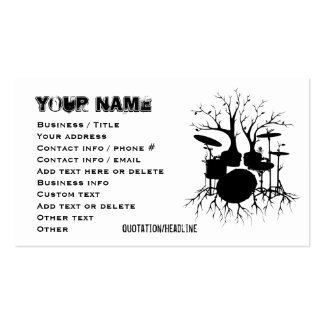 Live the Beat to the Tempo of Creation (Drum art, Pack Of Standard Business Cards