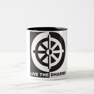 Live the Dharma Two-Tone Coffee Mug
