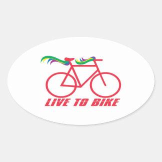 Live To Bike Oval Stickers