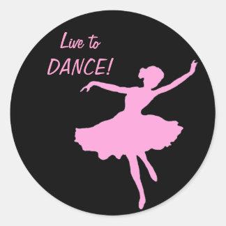 Live to DANCE! Round Sticker
