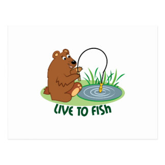 Live To Fish Postcard