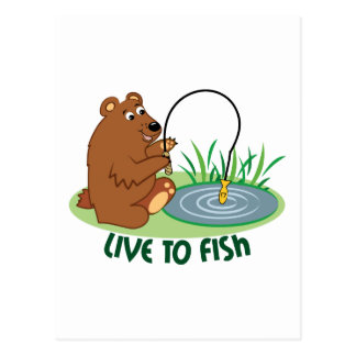 Live To Fish Post Card