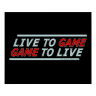Live to Game Poster