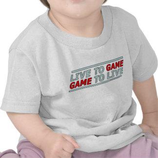 Live to Game Tee Shirts