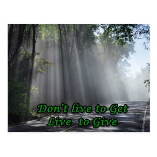 Live to Give Postcard
