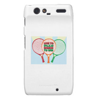 Live to play born to win motorola droid RAZR cases