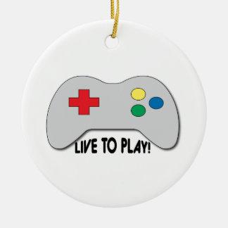 Live To Play Christmas Ornament