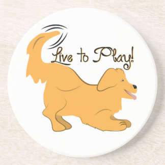 Live To Play Drink Coasters