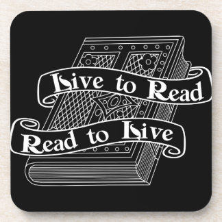 Live to Read Coaster