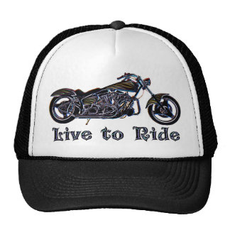 Live to Ride Neon Motorcycle Hat