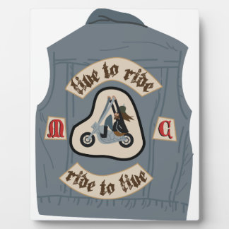 Live To Ride Photo Plaques
