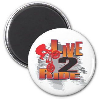 Live to Ride - Ride to Live 6 Cm Round Magnet