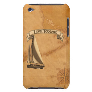 Live To Sail iPod Case-Mate Case