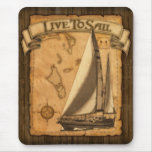 Live To Sail Mousemat