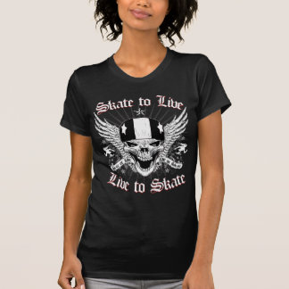 LIVE_TO_SKATE graphic T-Shirt