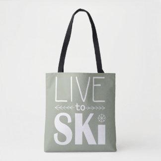 Live to Ski bag - olive